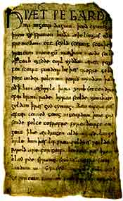 beowulf manuscript analysis A short biography describes 's life, times, and work also explains the historical and literary context that influenced beowulf.